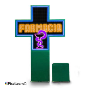 Cruz de farmacia full color P8 XXL. exterior…