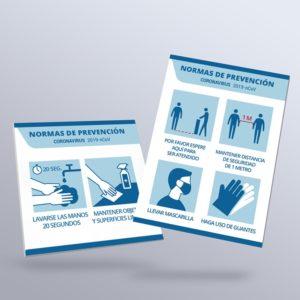 Carteles de responsabilidad Sanitaria