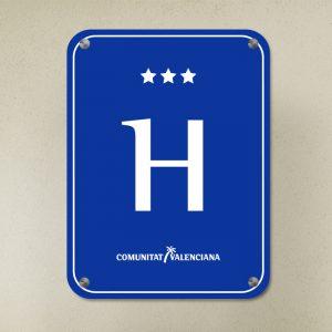 Placa Hotel Com. Homologada